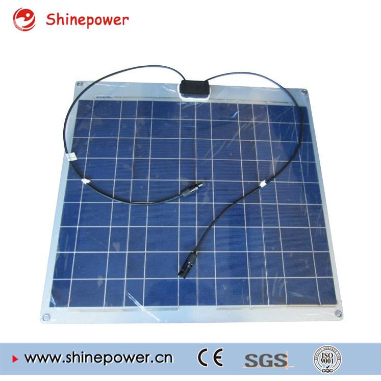 60W Poly Aluminum Semi Flexible Mono Solar Panel/Solar Module