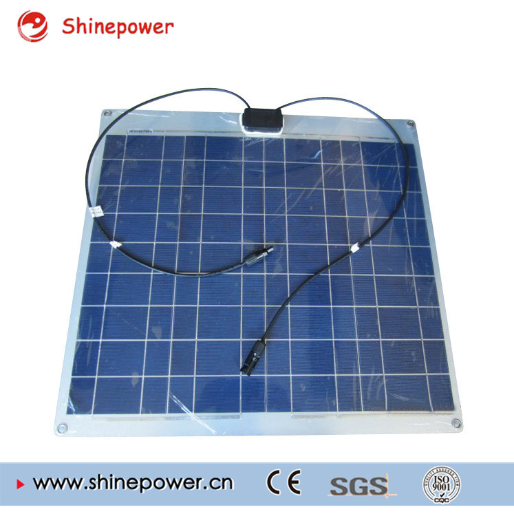 60W Poly Aluminum Semi Flexible Mono Solar Panel