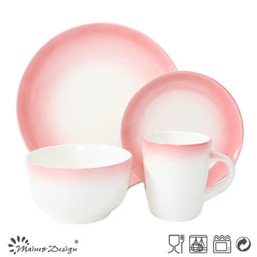 Hand Painting Gradient Color 16PCS Dinnerware Set