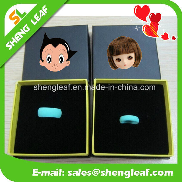 Hot Salecustom Silicone Finger Rings Promotional Gift (SLF-SR001)