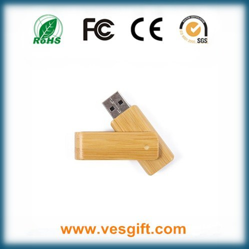 Hot Corporate Gift USB Drive Wooden Swivel USB Memory Stick