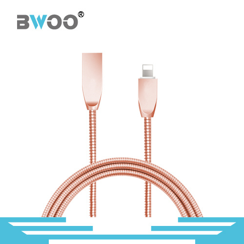 Colorful Hot-Selling Retractable Data Cable with Metal Head