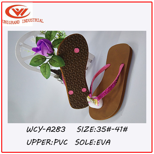 2016 Cute Design Bowknot Ladies′ Flip Flops