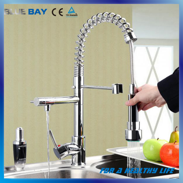 Hot Sale Brass Sinlge Lever Spring Kitchen Faucet