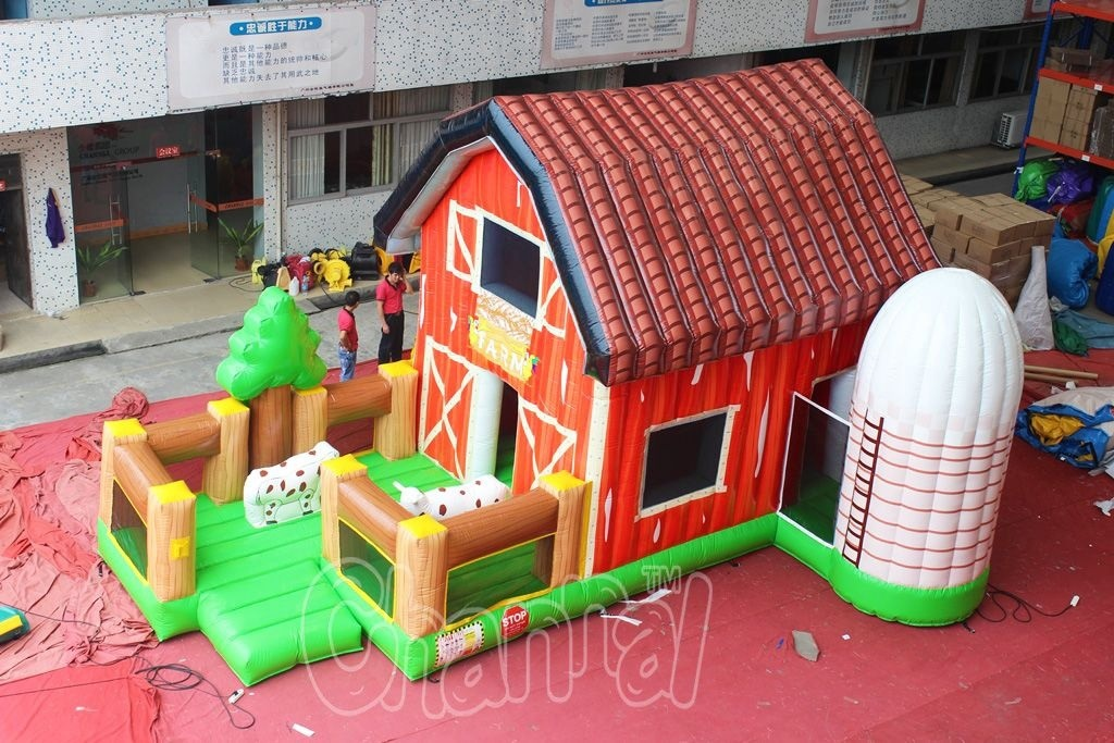 Inflatable Bouncer Farm House Bouncer for Commercial Rental Use (chb610)