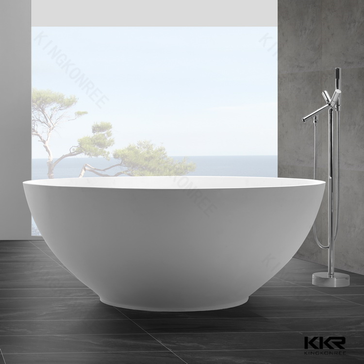 Acrylic Resin Stone Oval Bath Tub Stone Bathtub