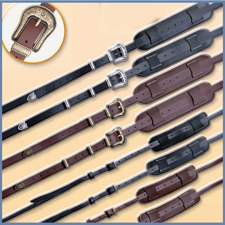 High Quality Suede Genuine Leather Guitar Strap