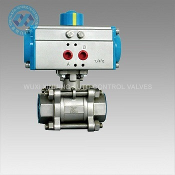 Pneumatic Three Piece Ball Valve