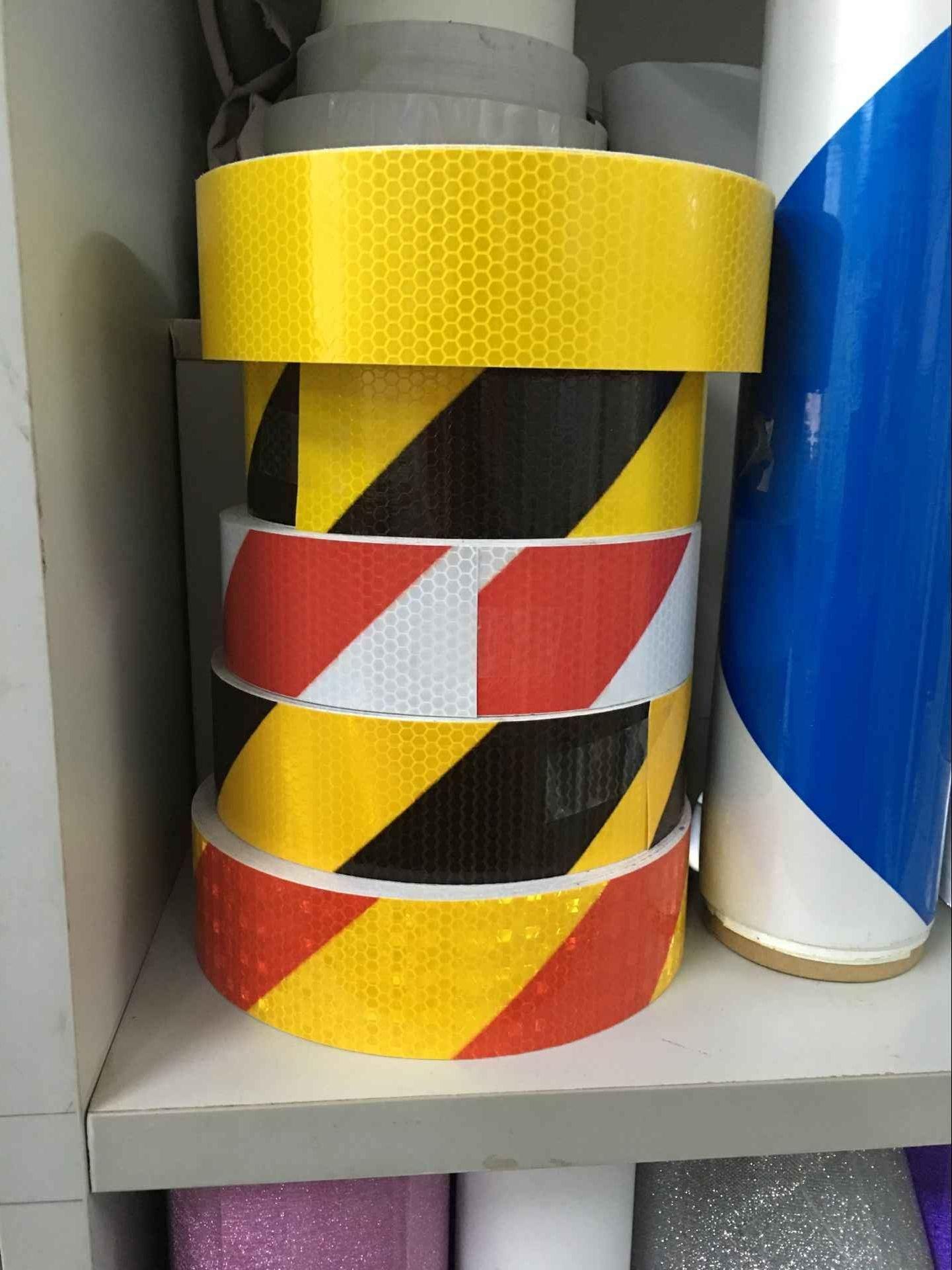 Adhesive Reflective Tape Honeycomb Reflective Marks for Truck Vehicle Warning