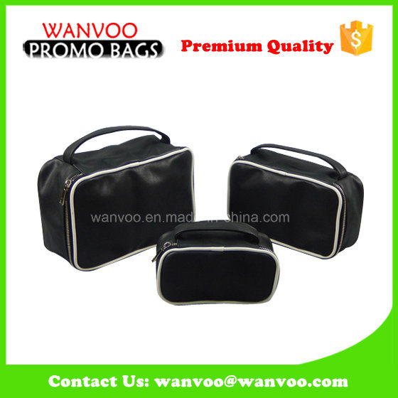Clean Promotional Cotton PVC PU Toiletry Cosmetic Bag for Pouch