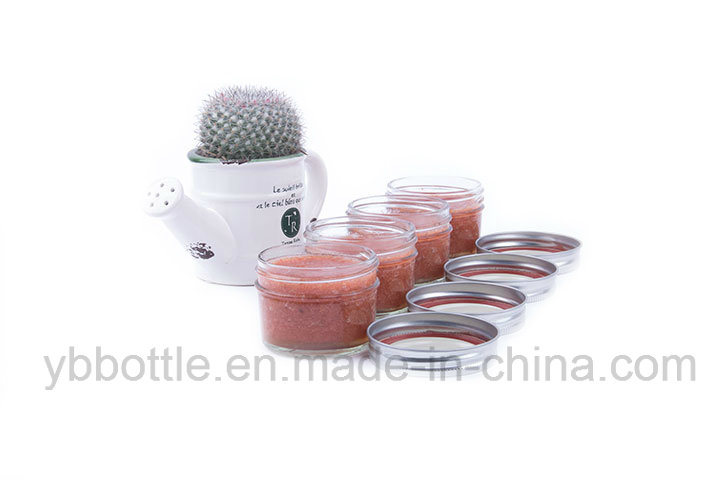 4oz/120ml 8oz/250ml, 16oz/520ml Tapered Glass Bottle Eco Mason Jar Honey/Jam Jar Glass Bottle Ith Gold/Silver/White/Black Metal Lids