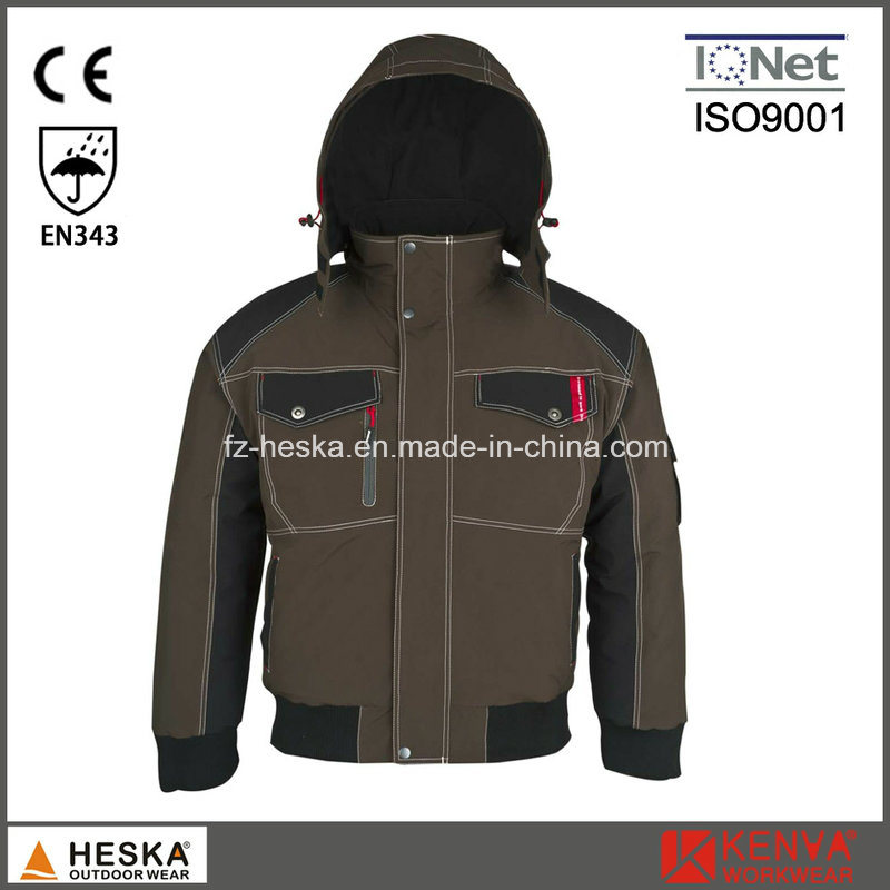 Mens Seam Tape Waterproof Pilot Jacket Winter Bomber Jacket