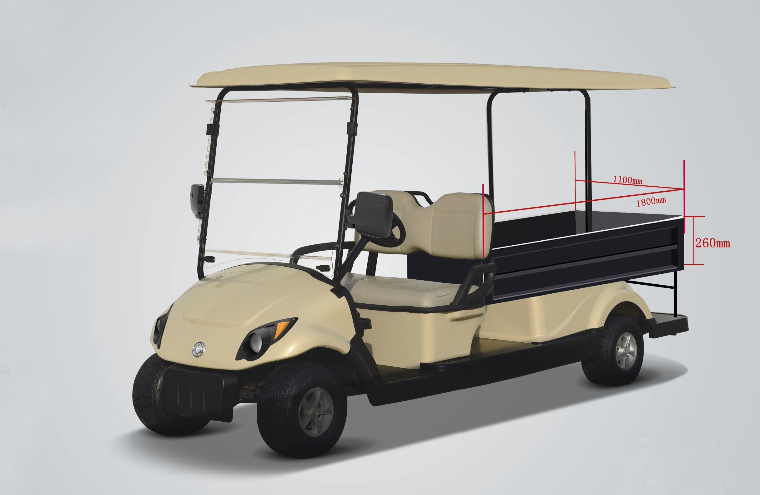 New 2 Seater Electric Golf Cart with a Cargo Box
