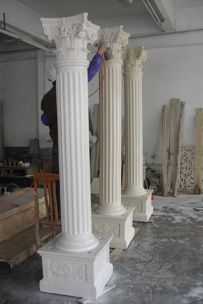 Classic Decorative Roman Columns, Smooth Decorative Porch Pillars