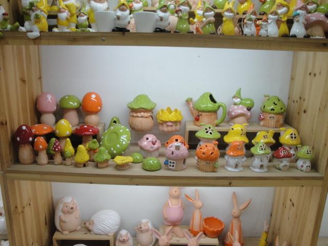 Ceramic Mushroom Garden Decorative Items