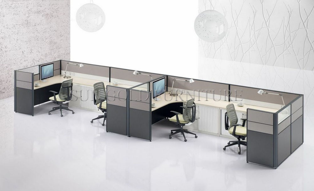 modern 4 people linear office cubicle with cheap price sz ws250 cheap office cubicles