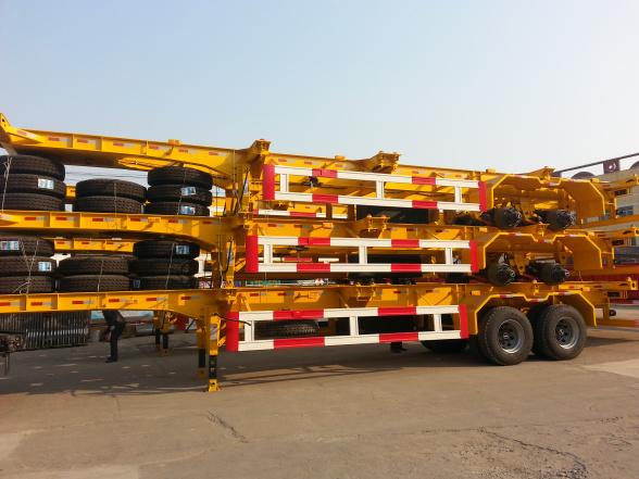 2 Axle/3 Axle 40′ Skeleton Container Semi Trailer