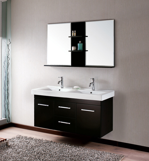 Latest Chinese Modern Bathroom Vanity Double Sink Bathroom Vanity