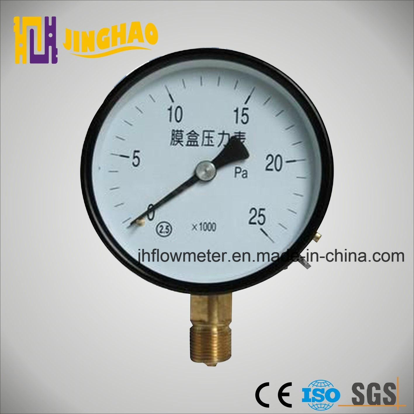 Capsule Belows Pressure Gauge with CE Certificate (JH-YL-TFE)