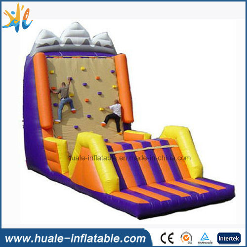 PVC Inflatable Rock Climbing, Climbing Wall with Slide Sports Game