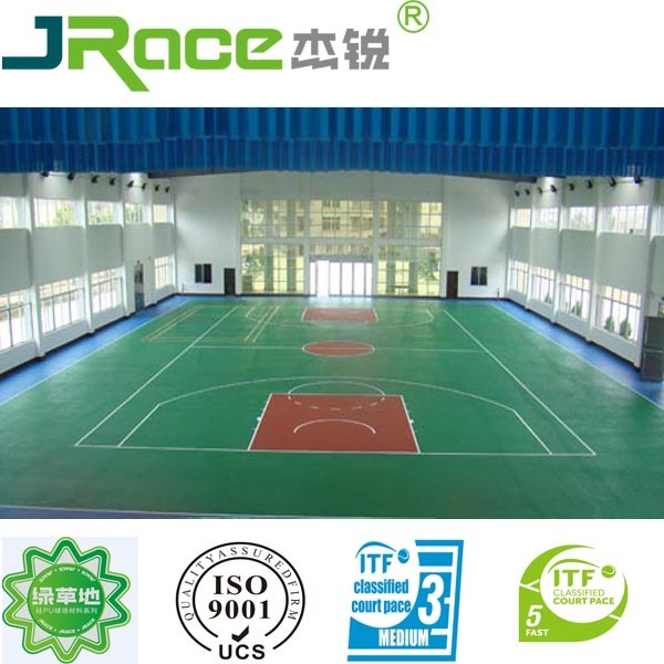 China Silicone Pu Indoor Basketball Court Photos