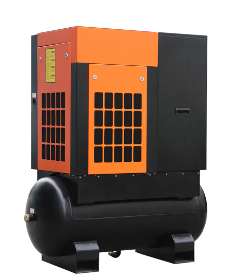 ISO, Ce, ASME 15kw 20HP Tank Mounted Screw Air Compressor for Sale