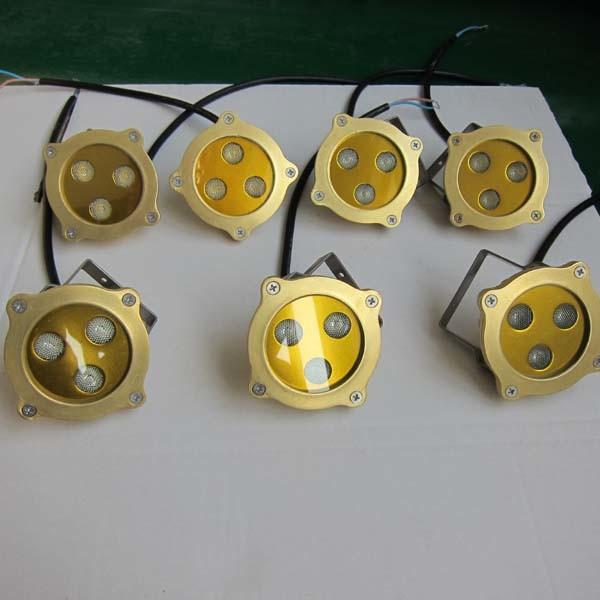 Fashion 3W Waterproof Brass Swimming Pool LED Underwater Light