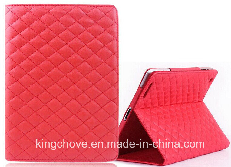 a New Design Fashion Stitching Sheep Skin Leather for iPad Cover (KCI18)
