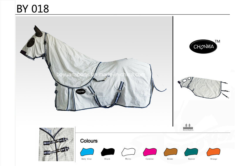 Promotional Cotton Summer Horse Rug with Detachable Neck Cover Wholesale