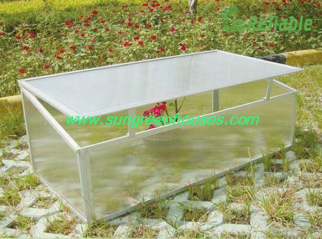 China diy aluminum plastic cold frame mini green house kit for Homemade greenhouse plastic