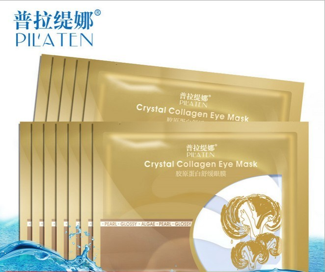 Pilaten Crystal Collagen Eye Mask Dark Circles Removal Anti-Wrinkle Anti-Puffiness Skin Care Eye Masks