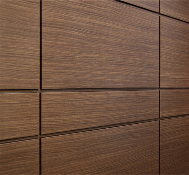 Square Wall Paneling : China espresso wood look aluminum wall panels photos