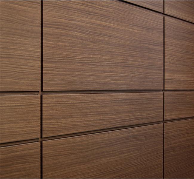China Espresso Wood Look Aluminum Wall Panels Photos
