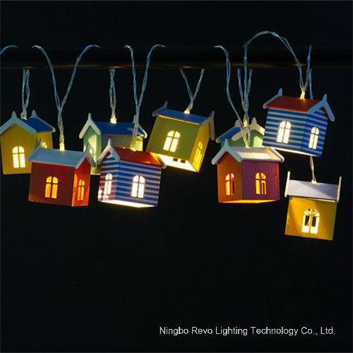 10 LED Beach Hut Solar String Lights (RS1011)