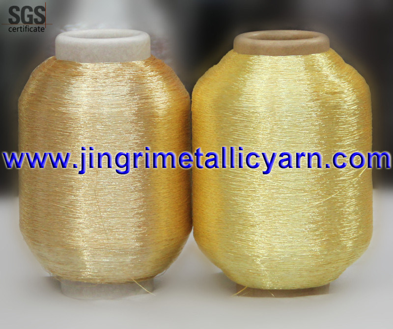 Pure Silver Pure Gold Metallic Yarn with Cotton or Polyesor Viscose Rayon Core