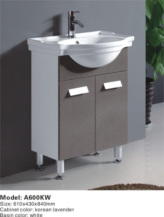 China MDF Bathroom Cabinet Bathroom Vanity A600KW China Bathroom Vanity C
