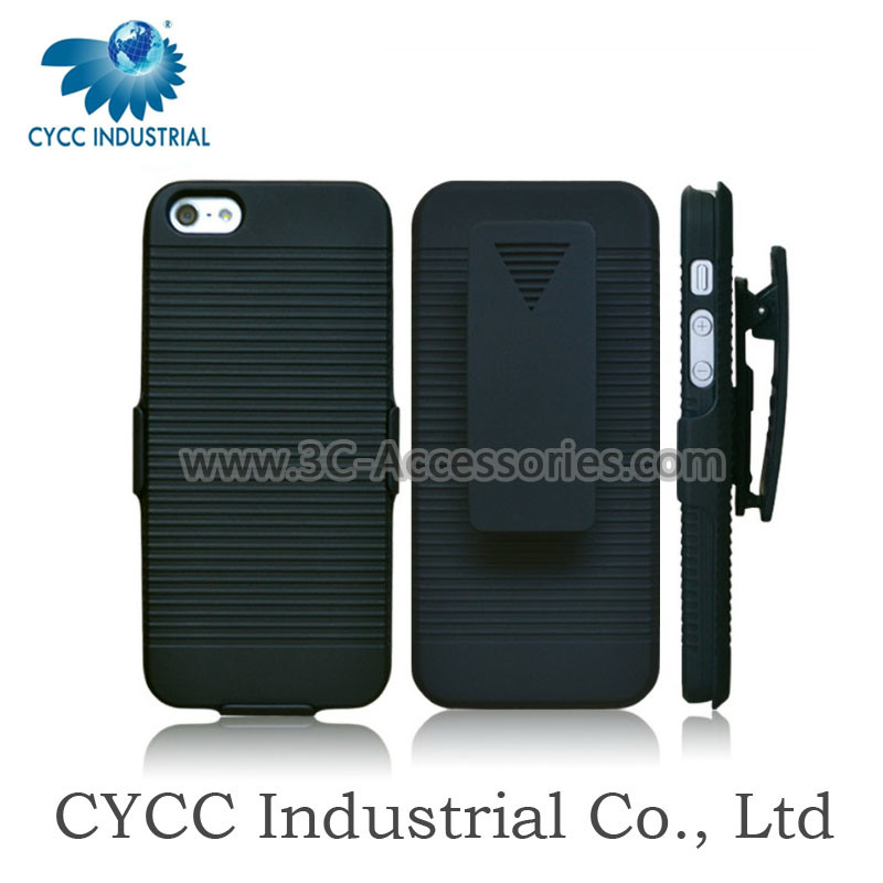 PVC Holster Combo Case with Stand for iPhone