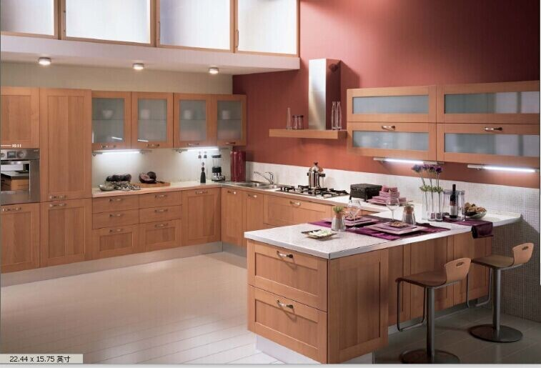 China guanjia kitchen mdf melamine faced kitchen design for Melamine kitchen designs