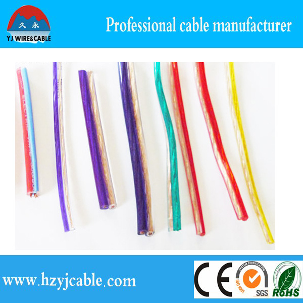 Different Color Transparent and PVC Insulation Flat Speaker Cable