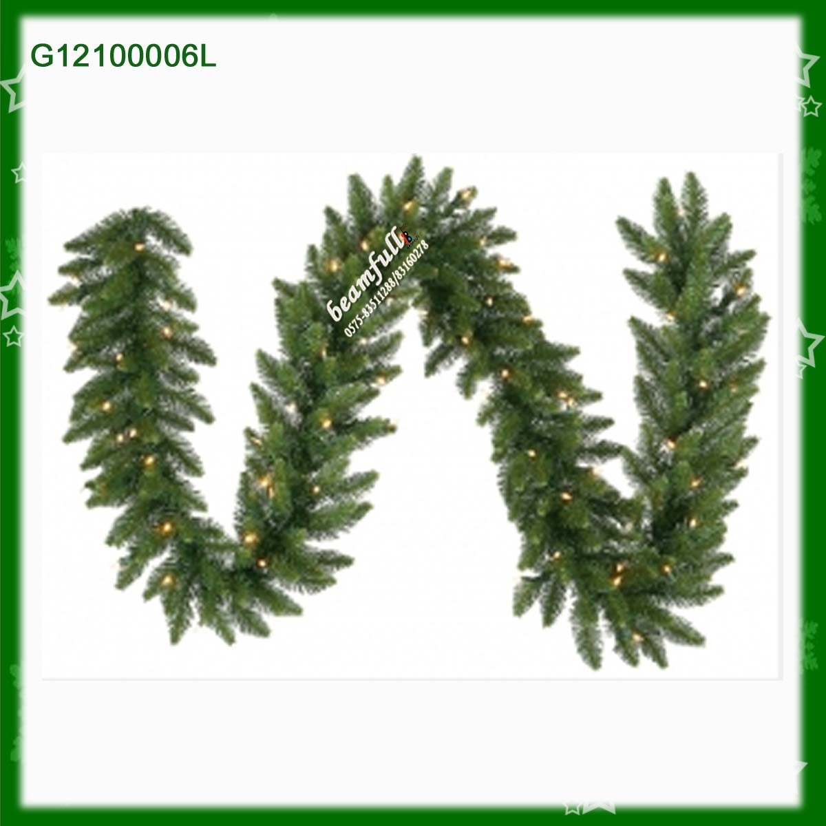 China Christmas Garland with LED Lights Colour Light (G12100006L ...