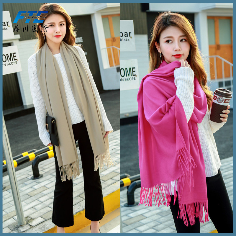High Quality Scarves Long Style Lady 100% Cashmere Scarf