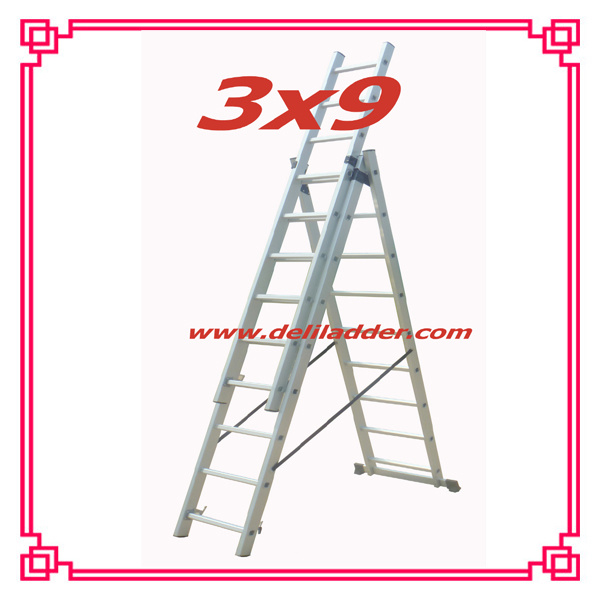 Aluminum Extension Ladder CE En131 Size: 3X6/3X7/3X8