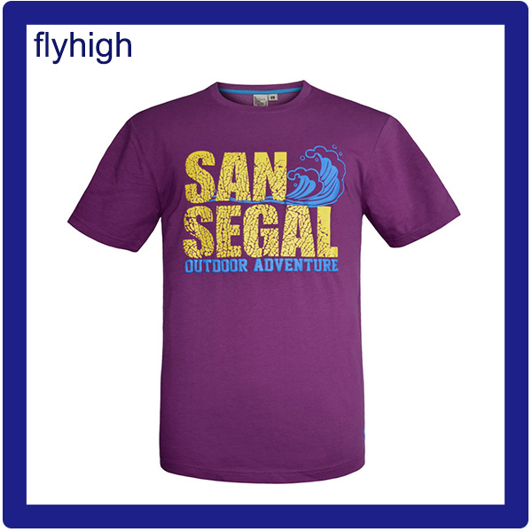 Solid Color Custom Printed Unisex Cotton T-Shirt