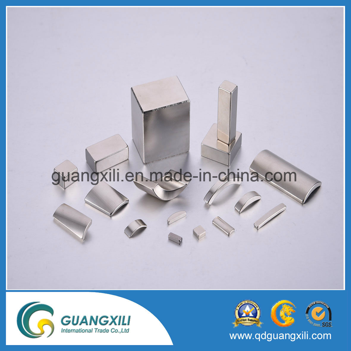 N35 N38 N40 N54 NdFeB Permanent Magnet with Nickel Plating