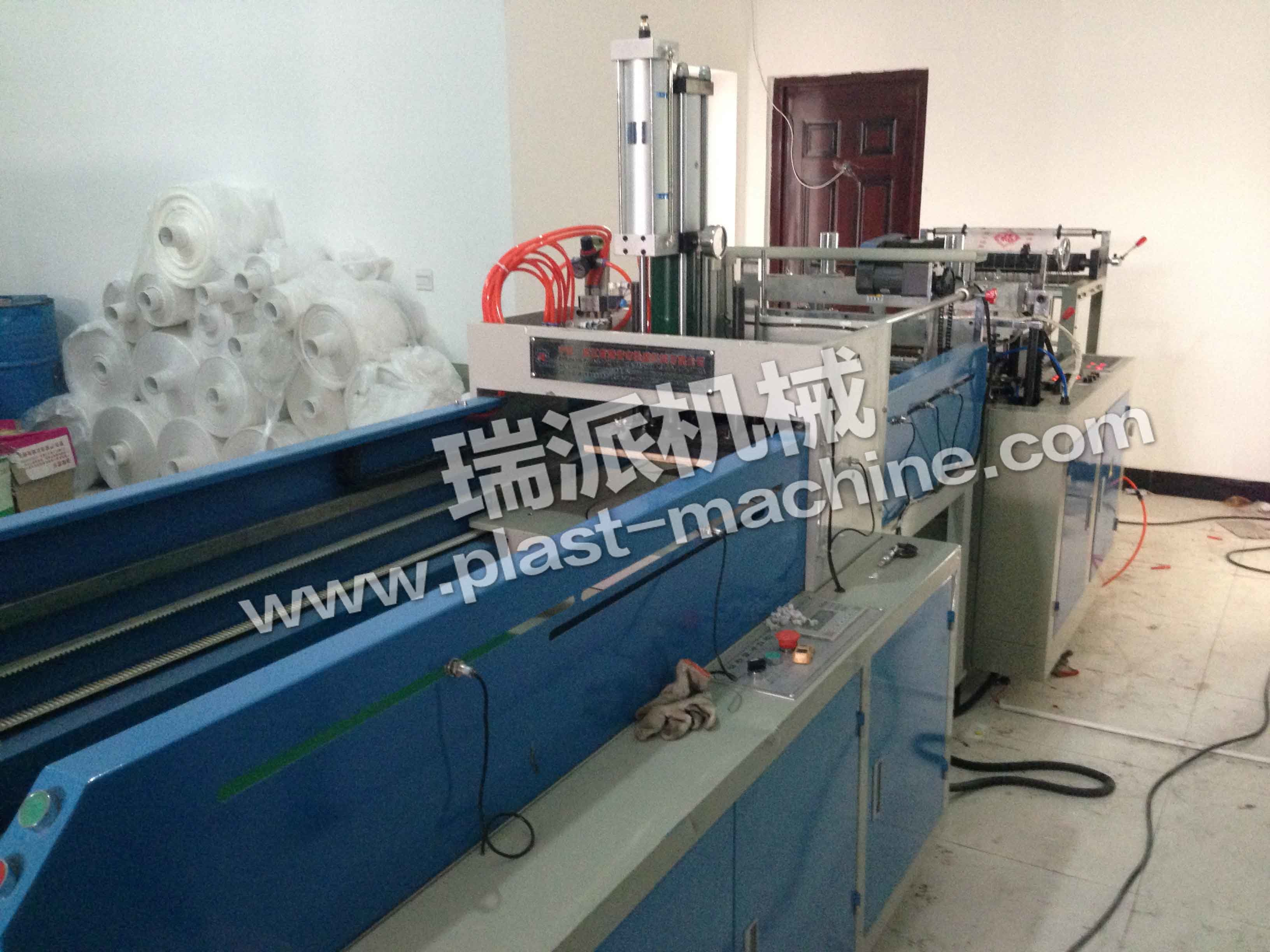 One Line Hot Sealing Hot Cutting Plastic Bag Making Machine
