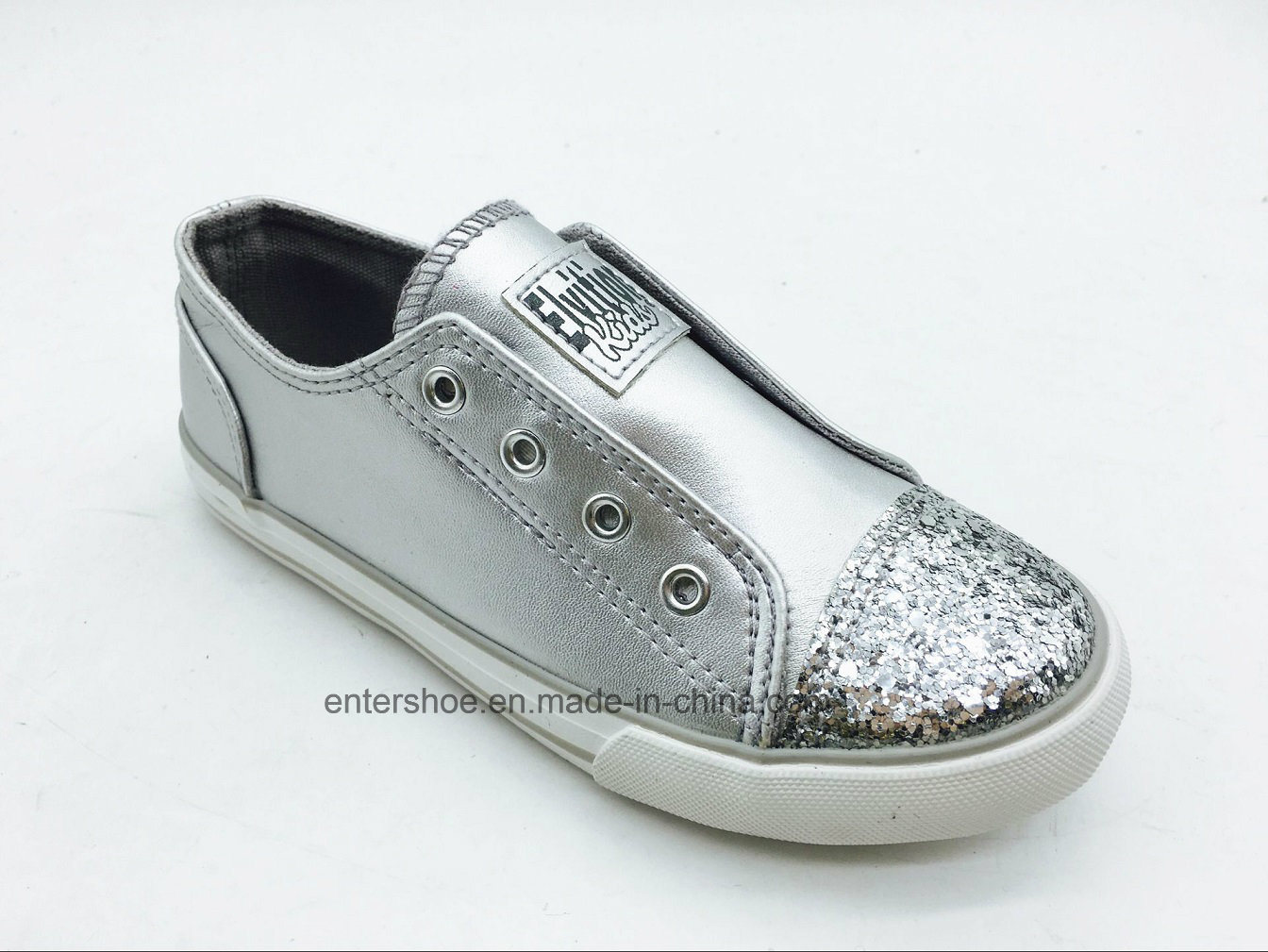 Gold Color Kids Fashion Shoes with Big Elastic (ET-LH160265K)