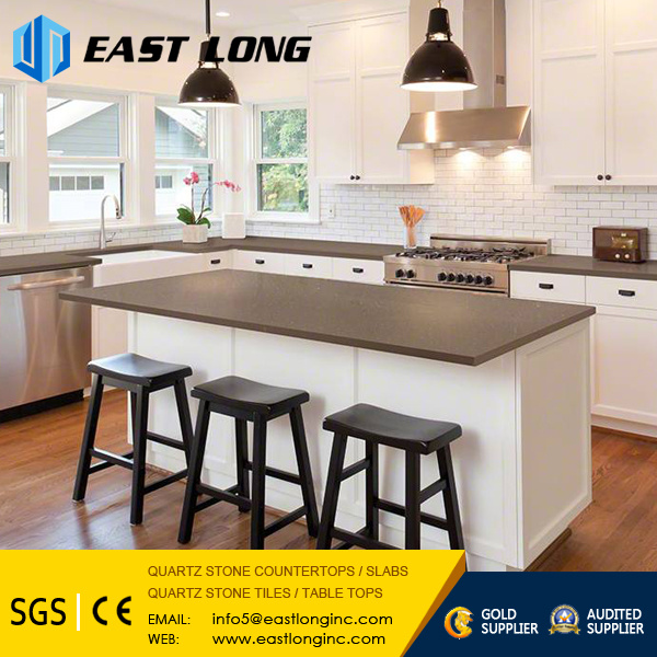 Cheap Pure White/Grey/Beige Quartz Stone Slabs for Vanity Top/Floor Tile/Wall Panel with Building Material/Solid Surface