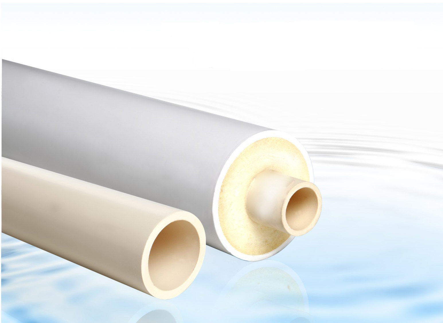 china cpvc hot cold water insulated pipe for solar hot