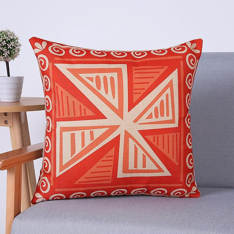 Digital Print Decorative Cushion/Pillow with Geometric Pattern (MX-59)
