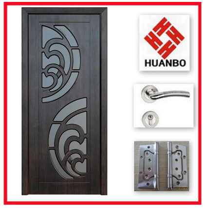Popular Design PVC MDF Interior Room Door Hb-004